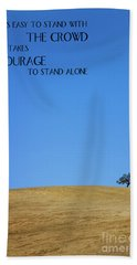 Tree Of Courage Beach Towel