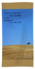 Tree Of Courage Beach Towel