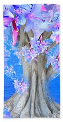 Tree Of Hope Beach Sheet by Saundra Myles