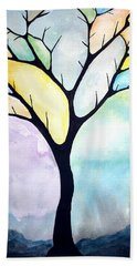 Tree Of Life Beach Towel by Edwin Alverio