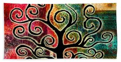 Tree Of Life Beach Towel by Jaison Cianelli