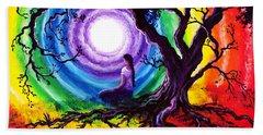 Tree Of Life Meditation Beach Towel