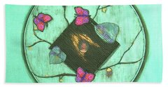Beach Towel featuring the painting Tree Of Life by Mini Arora
