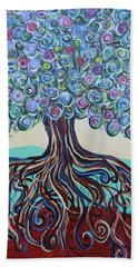 Tree Of Life-spring Beach Towel