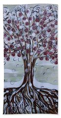 Tree Of Life - Winter Beach Towel
