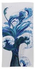 Tree Of Waves Beach Towel