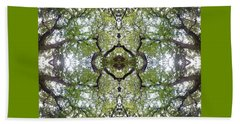 Tree Photo Fractal Beach Towel