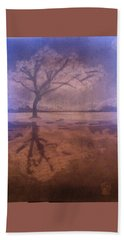 Tree Reflection  Beach Towel
