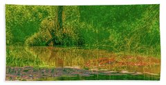 Beach Sheet featuring the photograph Tree Reflection June 2016 by Leif Sohlman
