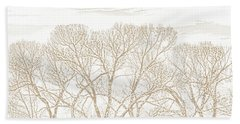 Beach Towel featuring the photograph Trees Silhouette Brown by Jennie Marie Schell