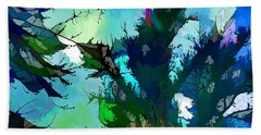 Tree Spirit Abstract Digital Painting Beach Towel