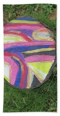 Beach Sheet featuring the painting Tree Stump In Abstract - Bellingham - Lewisham by Mudiama Kammoh