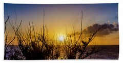 Tree Sunset Beach Sheet