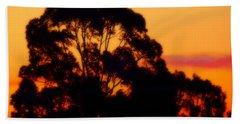 Tree Sunset Beach Towel