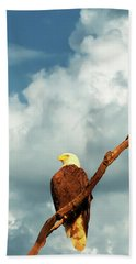 Tree Top Eagle  Beach Towel