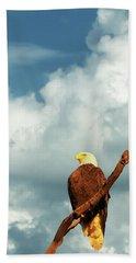 Tree Top Eagle  Beach Towel