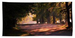 Tree Tunnel Beach Towel