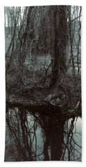 Beach Towel featuring the photograph Tree Vines Water by Robert G Kernodle