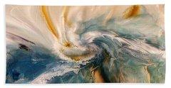 Beach Towel featuring the digital art Tree Wind by Linda Sannuti