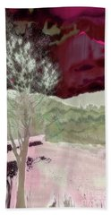 Tree Witness To Lake At Dawn Beach Towel