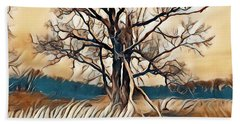 Tree1 Beach Towel