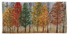 Treeline Painting Beach Towel