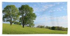 Summer Trees 3 Beach Sheet
