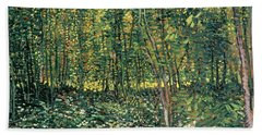 Trees And Undergrowth Beach Towel