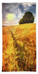 Beach Towel featuring the photograph Trees At The Top by Debra and Dave Vanderlaan