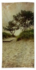 Trees By The Sea Beach Towel