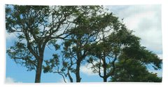 Trees In Kauai Beach Towel