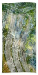 Trees Over Highway Beach Towel