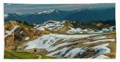 Trekking Ptarmigan Ridge Beach Towel