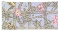 Trellis   Antique Wallpaper Design Beach Sheet by William Morris
