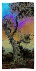 Beach Towel featuring the photograph Trembling Tree by Lori Seaman