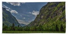 Beach Towel featuring the photograph Trenta Valley - Slovenia by Stuart Litoff