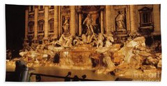 Trevi At Night Beach Towel