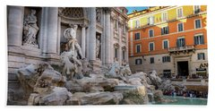 Trevi Fountain Beach Towel