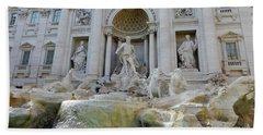 Trevi Fountain Rome Beach Sheet
