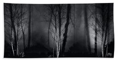 Tri-birch In Monochrome Beach Towel