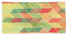 Triangles Pattern Beach Towel by Gaspar Avila