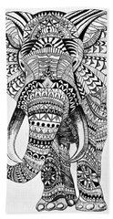 Tribal Elephant Beach Towel