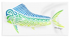 Tribal Mahi Mahi Beach Towel