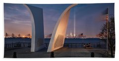 Beach Towel featuring the photograph Tribute In Light by Eduard Moldoveanu