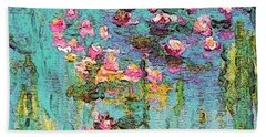 Tribute To Monet II Beach Towel by Holly Martinson