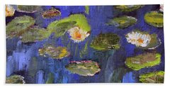 Beach Sheet featuring the painting Tribute To Monet by Michael Helfen