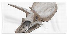 Triceratops Skull Beach Towel
