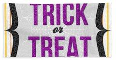 Trick Or Treat- Art By Linda Woods Beach Towel