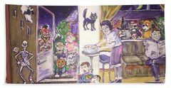Trick Or Treat On Exeter Street Beach Towel