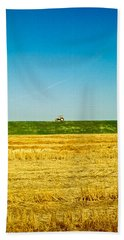 Tricolor With Tractor Beach Towel